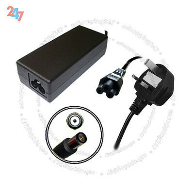 Charger Adapter For HP Compaq Presario CQ61-310ec + 3 PIN Power Cord S247 • 11.88£