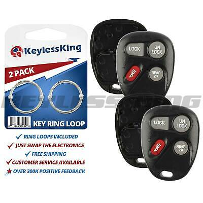 $9.95 • Buy 2 New Replacement Keyless Entry Remote Key Fob Case Shell For 16245100-29