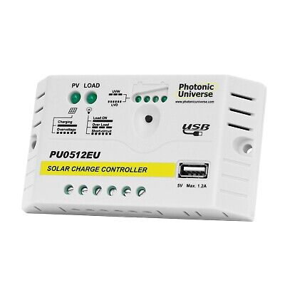 £17.99 • Buy 5A Solar Charge Controller /regulator For 12V Batteries & Solar Panels Up To 60W