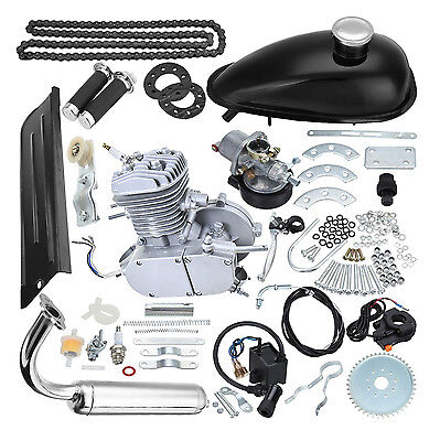 $ CDN263.63 • Buy New Silver 80cc 2-Stroke Motor Engine Kit Gas For Motorized Bicycle Bike USA