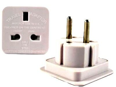 AU14.67 • Buy  UK To EU 2 PIN Travel AC Adapter Plug Converter NEW MODEL Uk Supplier Best Qlty