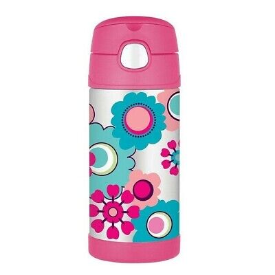 AU16 • Buy THERMOS Drink Bottle Pink Flower 355ml AUTHENTIC Kids Lunch Box