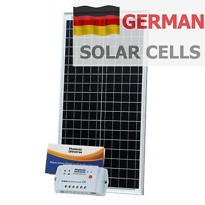 £97.99 • Buy 40W 12V Solar Panel Kit (10A Controller, 5m Cable) For Camper / Boat 40 Watt