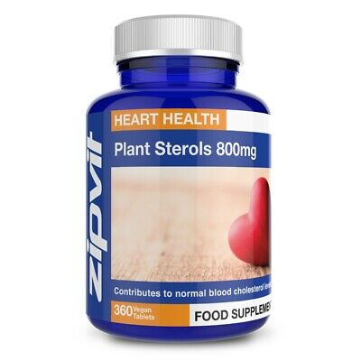 Plant Sterols 800mg (phytosterols 95%) - Vegan Tablets - Proven To Lower Chol... • 9.97£