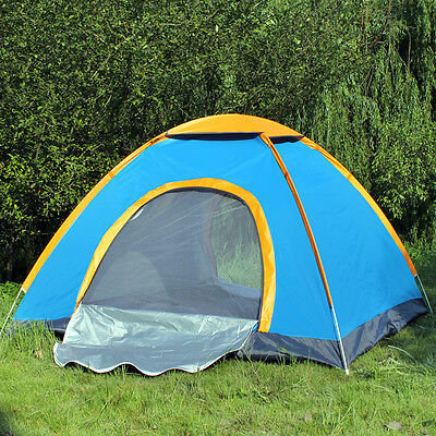 2 - 3 Man Person Camping Tent Waterproof Room Outdoor Hiking Backpack Fishing  • 16.95£