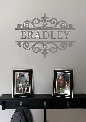 £7.27 • Buy Personalized Family Name & Design Vinyl Wall Sticker Lettering Modern Wall Decor