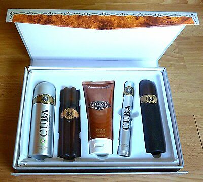 £24.99 • Buy Men's 5 Pack Cuba Must Have Gold Aftershave Perfume Grooming Set