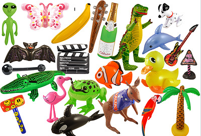 £2.25 • Buy Inflatable Items Scene Setters Props - Flamingo Cactus Ball Animal + Many More!