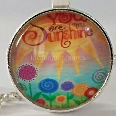 AU6.95 • Buy New You Are My Sunshine Necklace Flower And Sun Pendant - Silver Bf