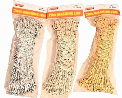 £5.98 • Buy 2 X Traditional Strong 20m Durable Pulley Rope Washing Clothes Dryer Line
