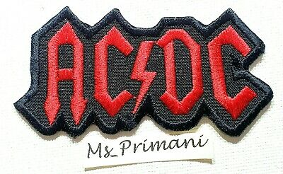 £1.89 • Buy AC/DC Embroidered Iron Sew On Patch Heavy Metal Rock Punk ACDC Badge Applique
