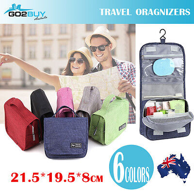 AU9.35 • Buy Waterproof Travel Cosmetic Toiletry Makeup Wash Hanging Bag Organizer Storage AU