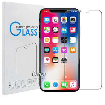 AU3.49 • Buy 4X Tempered Glass Screen Protector Film For Apple IPhone X 6 6S 7 7 8 Plus SE 5S