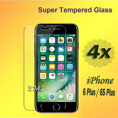 AU2.49 • Buy 4X Tempered Glass LCD Screen Protector For Apple IPhone 6 Plus / 6S Plus