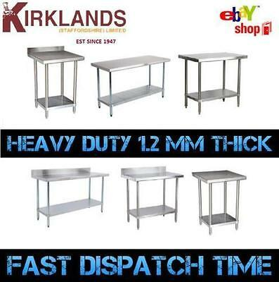 5 Foot 1500mm  5ft Stainless Steel Table Work Bench Catering Table Kitchen Top • 1,135.99£