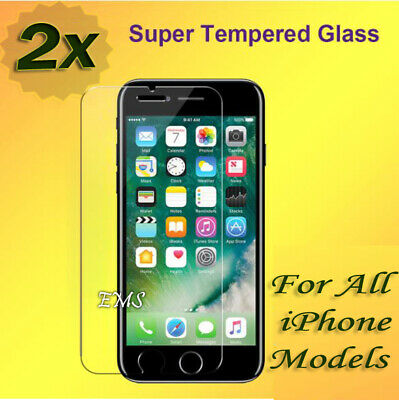 AU3.99 • Buy 2X Tempered Glass Screen Protector For Apple IPhone 6 7 8 Plus X XR XS MAX 11 12