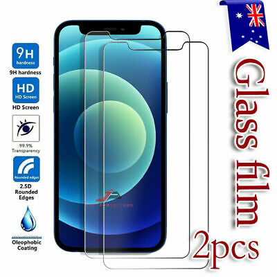 AU3.95 • Buy 2 X Tempered Glass Screen Protector Film For Apple IPhone SE 6 6S 7 8 Plus X Xs