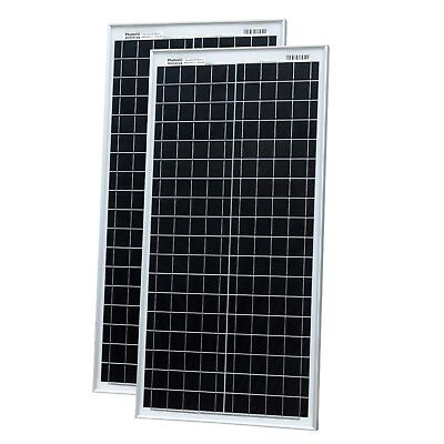 £139.99 • Buy 80W (40W+40W) Solar Panels With 2x5m Cable For Camper / Caravan / Boat 12V/24V