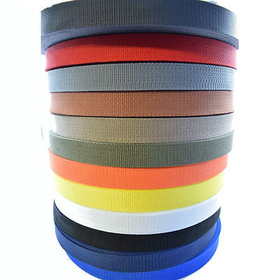 £1.99 • Buy High Quality Polypropylene Webbing Strap Tape Choice Of Colour Width And Length