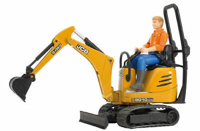 Bruder JCB Micro Excavator 8010 CTS & Construction Worker Toy 1:16 Farm Model  • 22.61£