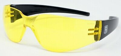 Yellow Tinted Glasses 4 Cricket Cycling Golf Shooting Ski Running Tennis Sports • 9.98£