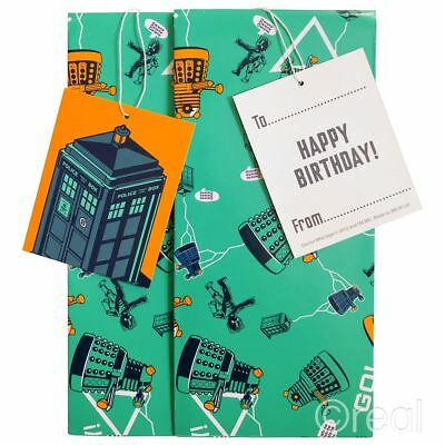 £3.99 • Buy New Doctor Who Gift Wrap Set Birthday Tags Wrapping Paper TARDIS Dalek Official