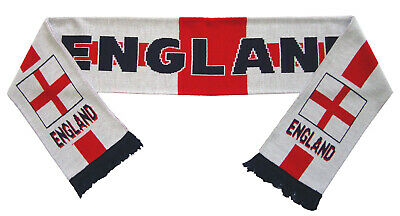England St Georges Football Scarf - Made In The UK • 7.99£