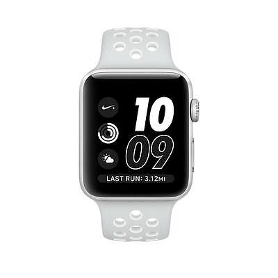 $ CDN471.49 • Buy Apple Watch Series 2 NIKE 38mm Silver Aluminum Case Platinum White Bnd MQ172LL/A