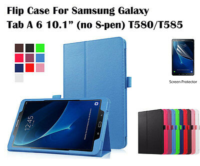 AU2.50 • Buy  Screen Protector/Flip Leather Cover Case For Samsung Galaxy Tab A 6 10.1