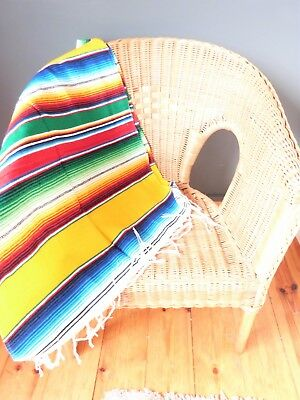 Mexican Scarf Throw Shawl Picnic Blanket Gift Cloak Rug Rainbow Aztec Serape • 19.99£