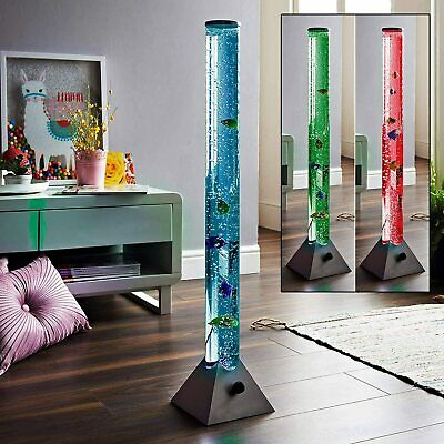 £38.99 • Buy 120cm Colour Changing LED Water Bubble Fish Floor Tube Lamp Light Novelty