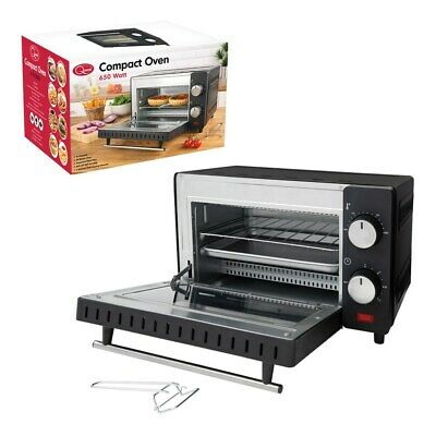 £64.99 • Buy 650w Mini Electric Oven Grill Toaster Black Counter Table Top Compact Caravan