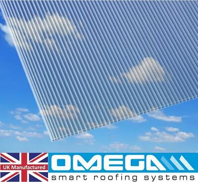 4mm Polycarbonate Greenhouse Sheets, 1220mm X 610mm X 10 Pack, + 100 W Clips • 56.13£