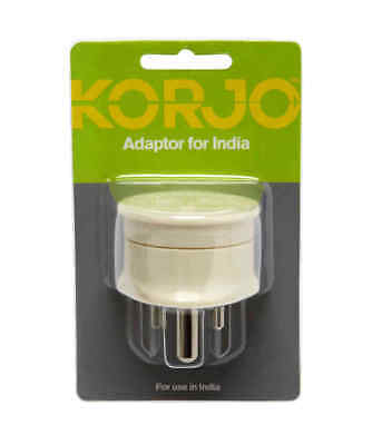 AU14.95 • Buy Korjo Travel Adaptor For India From Australia New Zealand