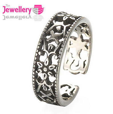 925 Sterling Silver 5mm Celtic Flower Band Ring Jewellery Ladies Womens Gifts Uk • 3.99£