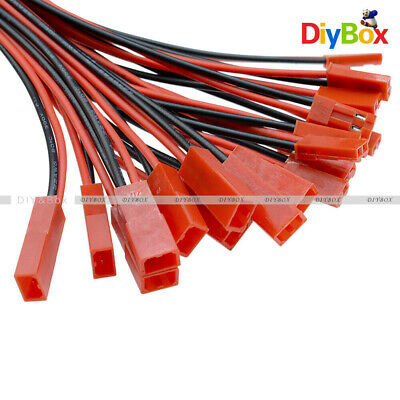 AU2.75 • Buy 10Pairs JST Connector 2-Pin Plug Cable Line Male+Female For RC BEC Lipo Battery