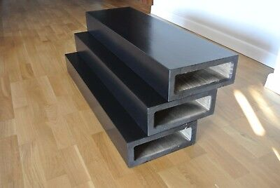 £2999 • Buy 13 Oak Stair Treads For Floating Staircase, Stained To Black And Varnished