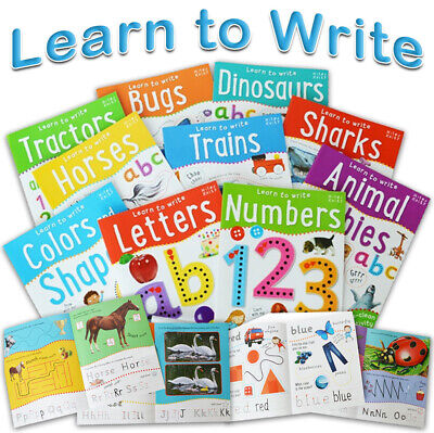 £15.99 • Buy Wipe Clean Learn To Write 10 Books Collection Set Alphabets Numbers Phonics NEW