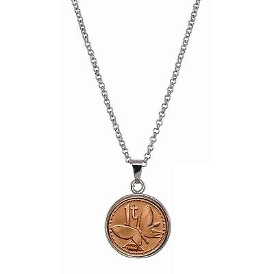 $19.95 • Buy NEW American Coin Treasures Butterfly Coin Pendant Necklace 14124
