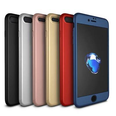 AU7.75 • Buy 360 Hybrid Shockproof Case Cover Tempered Glass For Apple IPhone 6 6s 7 Plus 8 X