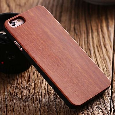 Apple Iphone 7 8 4.7 Hard Back Real Wood Case Wooden Cover Brown Bamboo Cherry • 17.99£