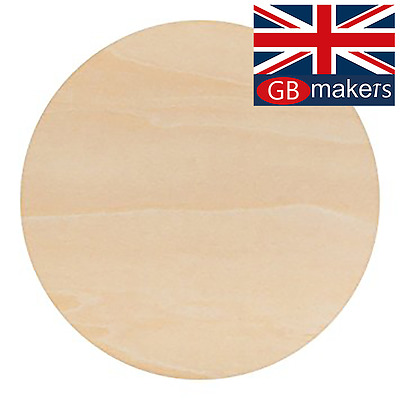 Birch Plywood Ply Sheet Circles Wooden Wood Board  Sheets Round Frame Craft  • 17.99£