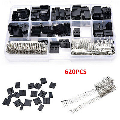 AU16.82 • Buy 620PC Male Female Dupont Wire Jumper Pin Header Connector Housing Assortment Kit