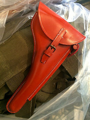 £26 • Buy WWII GERMAN Luger P08 6  Inch Barrel Holster W. KEY- REDDISH Brown Leather