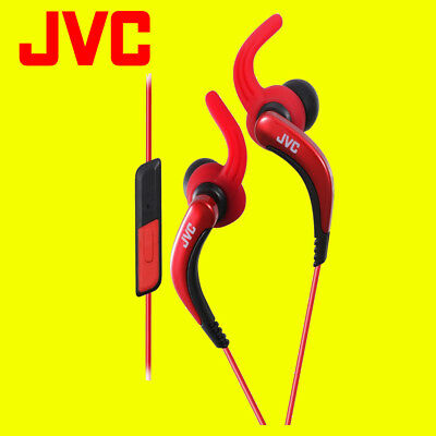 JVC HAETR40 RED Sports Earphones With Remote And Microphone Original / Brand New • 24.95£