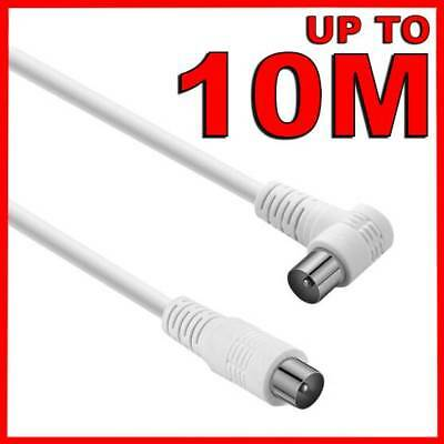 AU18.45 • Buy Right Angle TV Antenna Cable White Flylead Cord Aerial Coax Male PAL Plug Lead