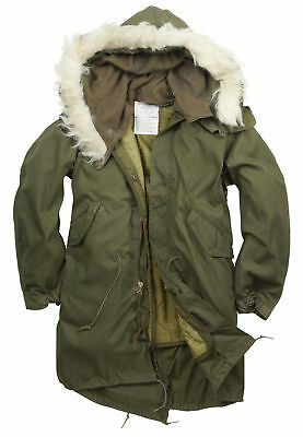 $509.44 • Buy New Original Us M65 Fishtail Green Parka Lined Hooded Xs S M L