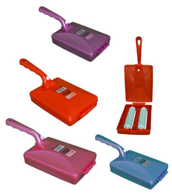 £4.99 • Buy Plastic Handled Carpet Table Sweeper Crumb Brush Collector 4/2 Roller