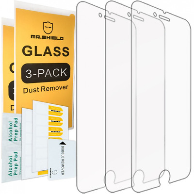 $9.49 • Buy 3-PACK 9H Tempered Glass For IPhone 8 / IPhone Screen Protector Mr.Shield HD G..