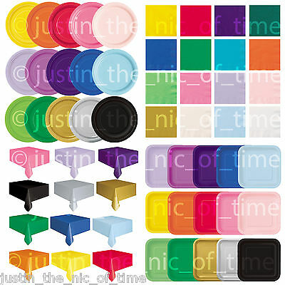 £2.35 • Buy Plain Disposable Solid Colours Party TABLEWARE  Events Birthday Catering Wedding